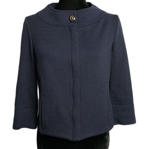 St.John Full Zipper Navy Cardigan Knitted Jacket 4